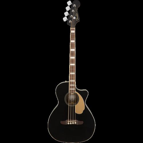Fender Fender Kingman Bass V2 Acoustic Bass, Solid Spruce Top, w/ Fishman Pickup w/ Case, Black