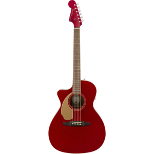 Fender Newporter Player Left-Handed, Solid Sitka Spruce Top, Mahogany Back, Candy Apple Red