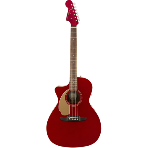 Fender Fender Newporter Player Left-Handed, Solid Sitka Spruce Top, Mahogany Back, Candy Apple Red