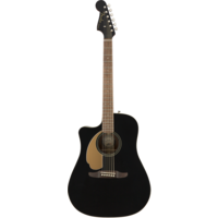 Fender Redondo Player Left-Handed, Solid Sitka Spruce Top, Mahogany Back, Jetty Black