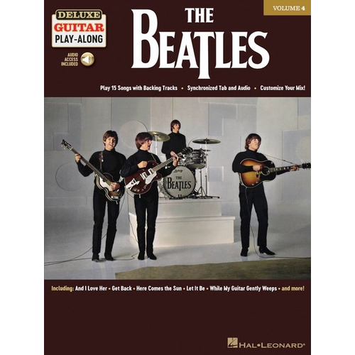 Hal Leonard Deluxe Guitar Play-Along Volume 4: The Beatles