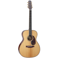 Takamine EF75M-TT OM Guitar, All Solid, Thermal Spruce Top, Madagascar Rosewood Back w/TLD-2 Pickup