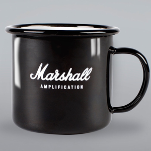 Marshall Script Black Enamel Mug