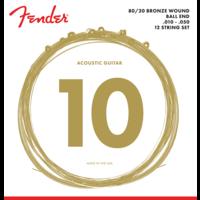 Fender 12-String Acoustic String Set, 80/20 Bronze, 70L-12 .010-.050