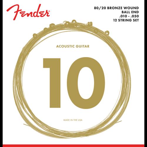Fender Accessories Fender 12-String Acoustic String Set, 80/20 Bronze, 70L-12 .010-.050