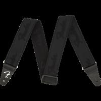"Fender Strap 2"" WeighLess, Running Logo, Black"