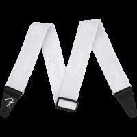 "Fender Strap 2"" WeighLess, Running Logo, White"