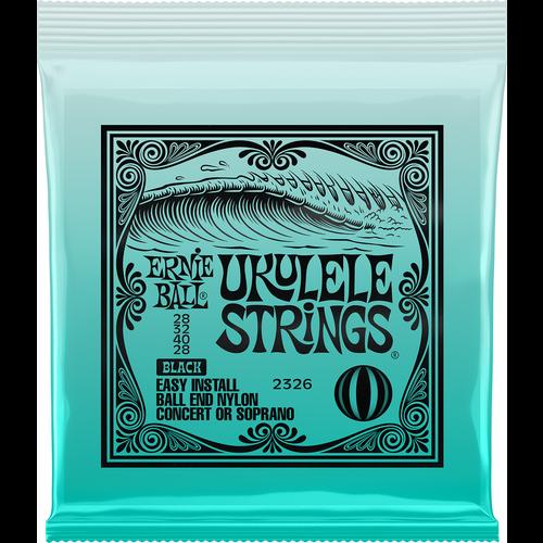 Ernie Ball Ernie Ball Ukulele String Set, Ball End, Concert/Soprano, Black