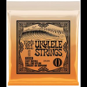 Ernie Ball Ukulele String Set, Ball End, Concert/Soprano, Clear