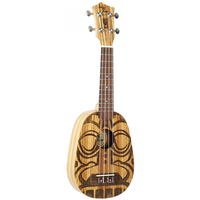 Eddy Finn Pineapple Tiki Top Ukulele