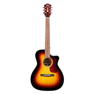 Guild OM-140-CE Electro-Acoustic Concert Guitar, All Solid, Sitka Spruce Top, African Mahogany Back, Antique Sunburst