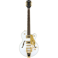 Gretsch G5655TG-LTD Electromatic Centre Block Jr w/Bigsby, Gold Hardware, Snow Crest White