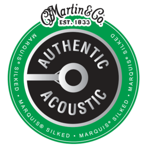 Martin 12-String Authentic Acoustic Marquis Silked String Set, 80/20 Bronze, MA180S Extra Light .010-.047