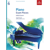ABRSM Piano Exam Pieces: 2019-2020 - Grade 6 (Book Only)