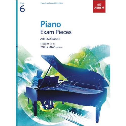 ABRSM Publishing ABRSM Piano Exam Pieces: 2019-2020 - Grade 6 (Book Only)