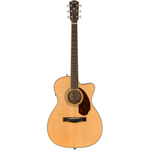 Fender Fender Paramount PM-3 Standard 000 Electro-Acoustic, All Solid Spruce/Mahogany w/ Hard Case, Natural
