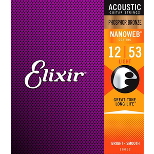 Elixir Nanoweb Coated Acoustic Guitar String Set, Phosphor Bronze