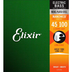Elixir Nanoweb Coated Bass Guitar String Set, Nickel