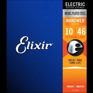Elixir Nanoweb Coated 12-String Guitar String Set, Nickel, .010-.046