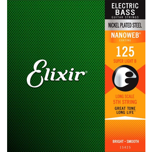 Elixir Nanoweb Coated Bass Single String (5th/6th)