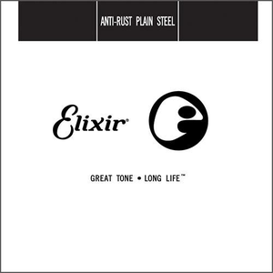 Elixir Anti-Rust Single String, Plain Steel