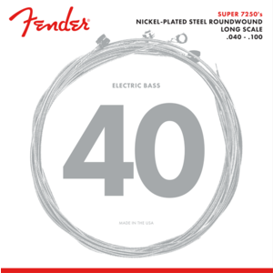 Fender Super 7250 Bass String Set, Nickel