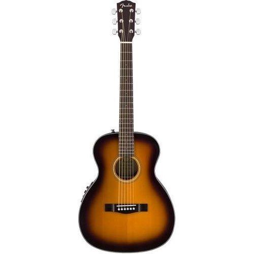 Fender Fender CT-140SE Electro-Acoustic Travel Guitar, Solid Spruce Top, Rosewood Back, w/ Case, Sunburst