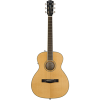 Fender Paramount PM-TE Standard Travel, All Solid Spruce/Mahogany w/ Hard Case, Natural