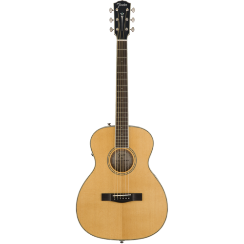 Fender Fender Paramount PM-TE Standard Travel, All Solid Spruce/Mahogany w/ Hard Case, Natural