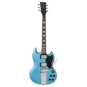 Vintage VS6 SG, Vibrola Tailpiece, Gunhill Blue
