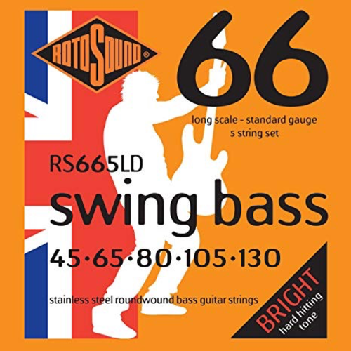 Rotosound Rotosound Swing 5-String Bass Set, Stainless Steel