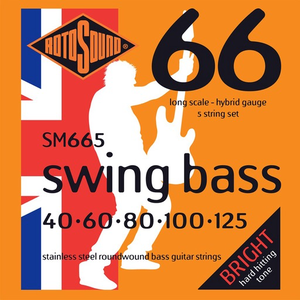 Rotosound Swing 5-String Bass Set, Stainless Steel