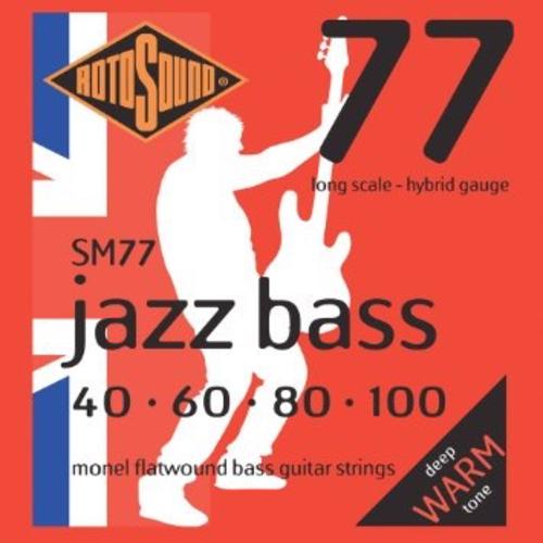 Rotosound Rotosound Jazz Bass Guitar String Set, Monel Flatwound