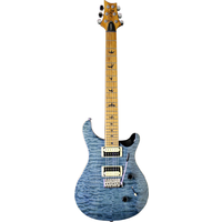 PRS SE Custom 24, Limited Edition, Torrified Maple Neck, Whale Blue Quilt