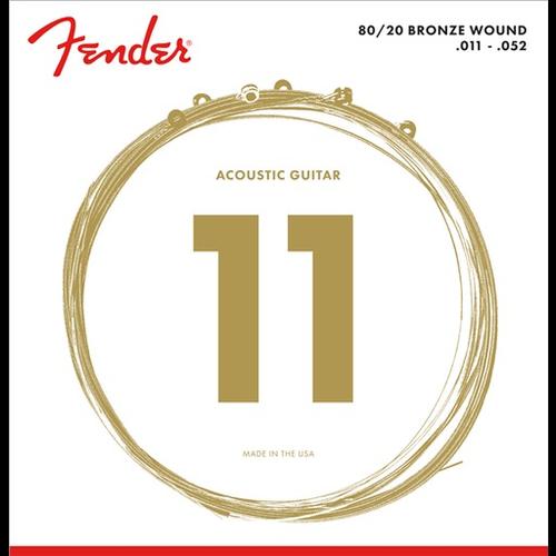 Fender Accessories Fender Acoustic String Set, 80/20 Bronze