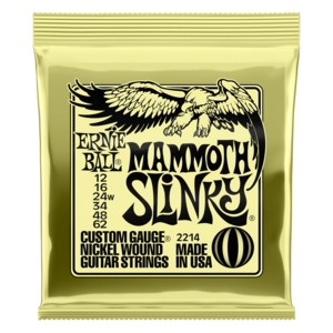 Ernie Ball Electric Guitar String Set, Wound 3rd, Mammoth Slinky .012-.062