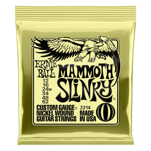 Ernie Ball Ernie Ball Electric Guitar String Set, Wound 3rd, Mammoth Slinky .012-.062