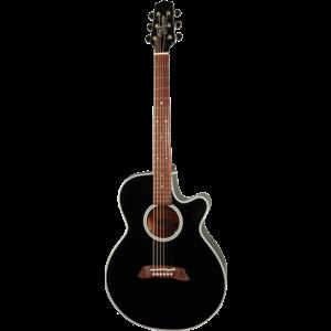 Takamine EF261S-BL Electro-Acoustic FXC, Solid Cedar Top, Nato Back, Black
