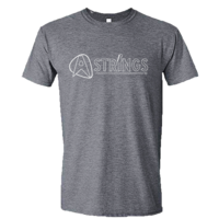 A Strings Silhouette Logo T-Shirt, Graphite Heather