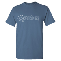 A Strings Silhouette Logo T-Shirt, Indigo Blue