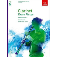 ABRSM Exam Pieces 2014-2017 Grade 6 Clarinet/Piano (Book Only)