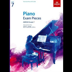 ABRSM Piano Exam Pieces: 2017-2018 - Grade 7 (Book Only)