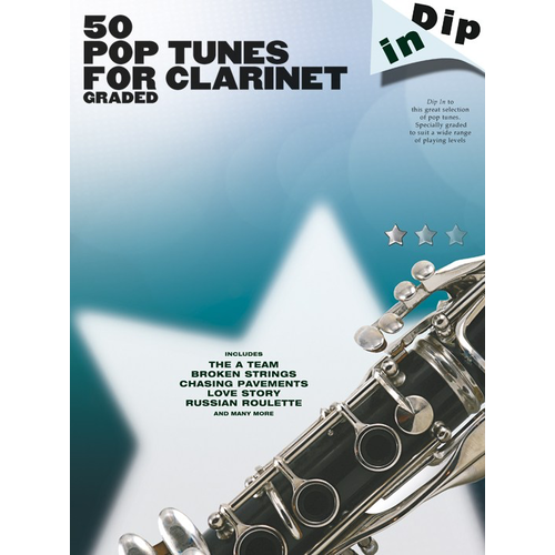 Wise Publications Dip In: 50 Graded Pop Clarinet Solos