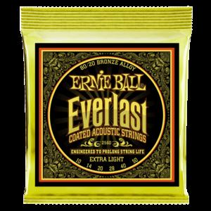 Ernie Ball Everlast Coated Acoustic Guitar String Set, 80/20 Bronze
