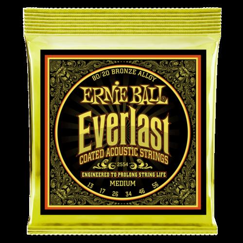 Ernie Ball Ernie Ball Everlast Coated Acoustic Guitar String Set, 80/20 Bronze