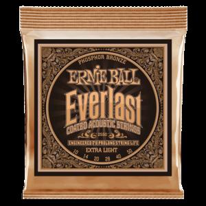 Ernie Ball Everlast Coated Acoustic Guitar String Set, Phosphor Bronze