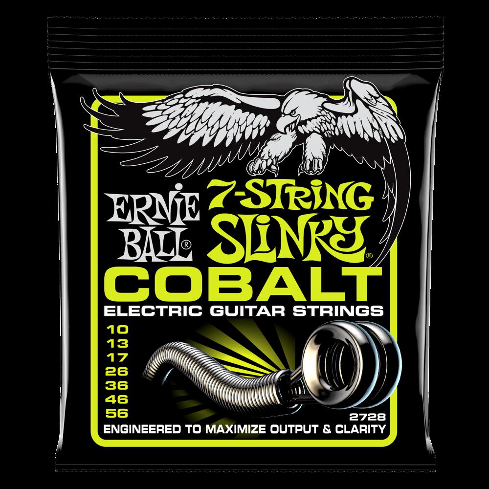 ernie ball 7 string cobalt electric guitar string set a strings. Black Bedroom Furniture Sets. Home Design Ideas