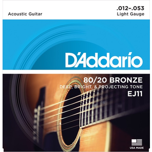 D'Addario Acoustic String Set, 80/20 Bronze