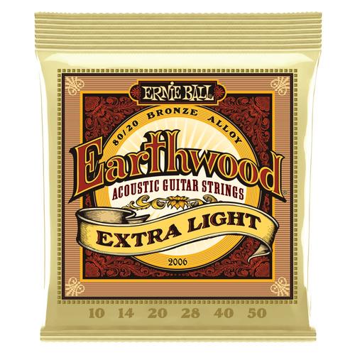Ernie Ball Ernie Ball Earthwood Acoustic Guitar String Set, 80/20 Bronze