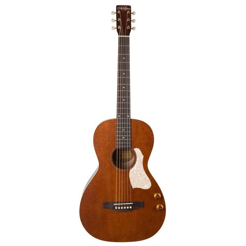 Art & Lutherie Art & Lutherie Roadhouse Q-Discrete Parlour Electro-Acoustic, Solid Spruce Top, Wild Cherry Back, Havana Brown